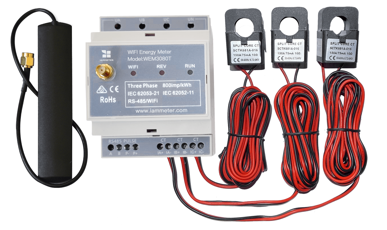 Bi-directional Three Phase WiFi Energy Meter